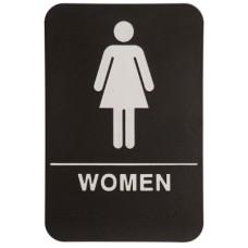 """6""""  x 9""""  WOMEN Sign"""
